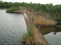 A government built water dam which used to support farmers in a community in Ekiti State. The displaced farmers could no longer (1)